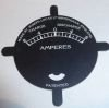 "Ampmeter face plate, left hand charge 8-4-0-4-8 1-13/16"" diam"
