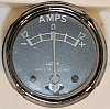 Ampmeter, Lucas, genuine, 12V, 12-0-12A, 1 5/8in hole, no mounts