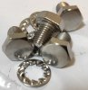 Bolt, +washers, silencers, Norton Commando, set 4