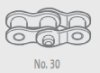 Chain, rear, 110056 5/8x3/8, cranked link, Renolds