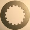 Clutch plate, plain steel, driven, Norton pre 1955