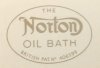 Decal, oilbath, Norton