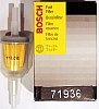 Fuel filter, in line, Bosch 1/4 and 5/16