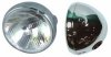 Headlight, 7inch, chromed, semi-sealed beam H4 type
