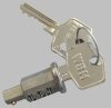 Ignition switch lock barrel with keys