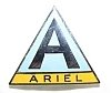 Badge, lapel, Ariel, Triangle, black A on blue over gold