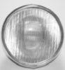 Headlight, Lucas pattern, DU142, 8in domed diamond with panel