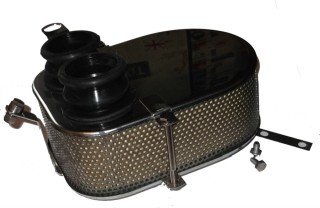 Air filter assembly, twin carb, Norton Commando