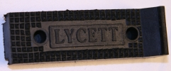 Footrest rubber, Lycett (pair)