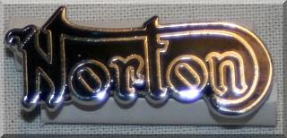 ebc732894d6 Badge, lapel, Norton, chrome on black, cutout script [MA-LB151 ...