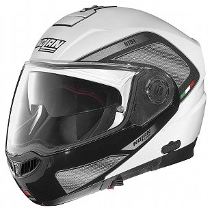 Nolan N104 Evo Tech flip face helmet, white / grey, XL