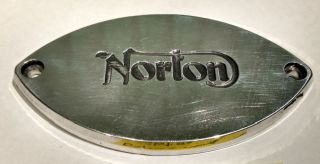 Gearbox clutch inspection cover, upright, Norton singles 1947-48