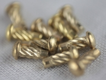 Badge pins (rivets), brass each