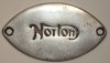 Gearbox, clutch worm inspection cover, Norton 1947, used
