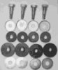 Petrol tank, set of bolts, cups, rubbers, washers, Norton (set4)